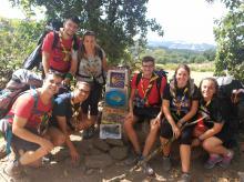 Un grup de l'AEiG Bisbe Borràs fent el Camino de Santiago