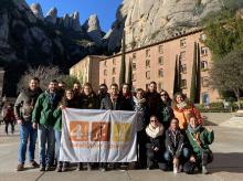 Trobada de presidències i escoles de formació del projecte 4vents a Montserrat